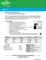 Technical Datasheet - UNO SV