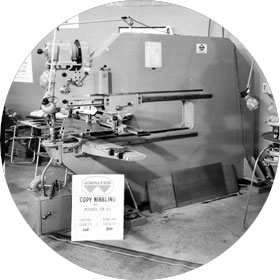 1959 - Introduction of Walter Machinery for straightening, cutting and nibbling