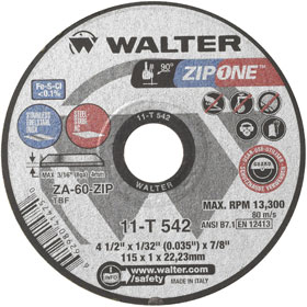 2013 - zip one cutting wheel