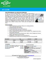 Technical Datasheet - AF-CLEAN