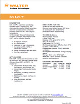 Technical Datasheet - BOLT OUT