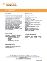 Technical Datasheet - OPEN GEAR