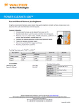 Technical Datasheet - POWER CLEANER 100