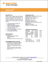 Technical Datasheet - COOLCUT