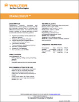 Technical Datasheet - STAINLESS CUT