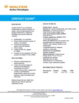 Technical Datasheet - CONTACT CLEAN